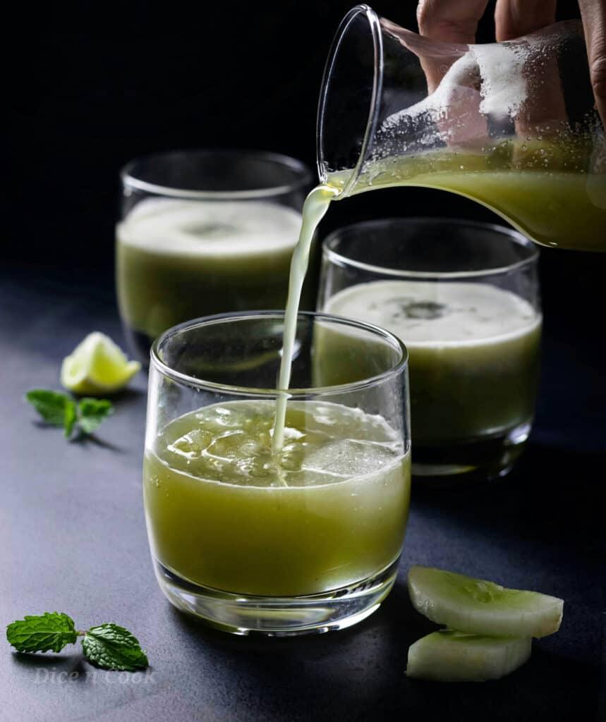 Cucumber mint drink recipe