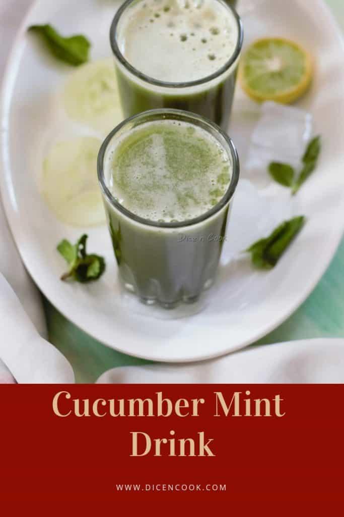 Cucumber-mint- drink