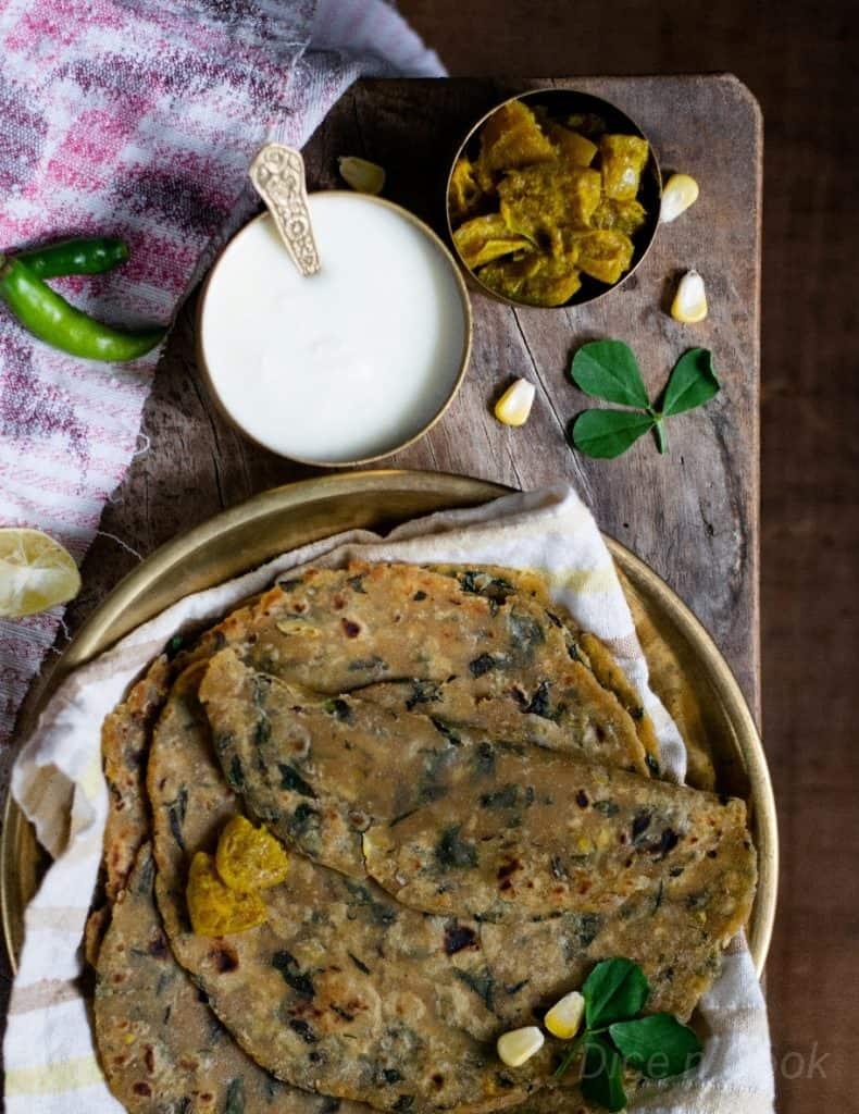 Methi-mixed- vegetable-paratha
