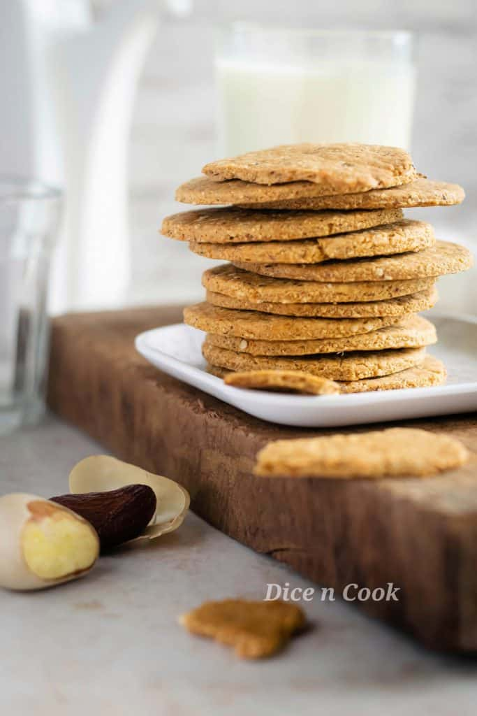 Quick and easy homemade crackers using jackfruit seeds.  Baked Jackfruit seed crackers are refined flour free and flavored with basic Indian spices. The nutty aroma and crunchiness are from nuts and jackfruit seeds in the recipe. This is healthy baked crackers recipe. #jackfruit #bakes #vegan #crackers #healthy