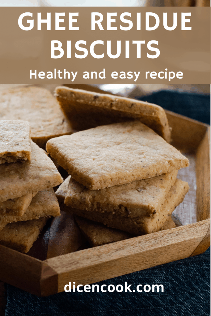 Eggless Almond ghee residue biscuits