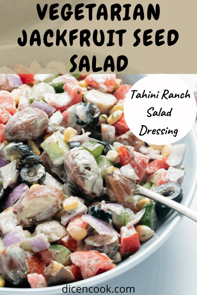 jackfruit seed vegetarian salad