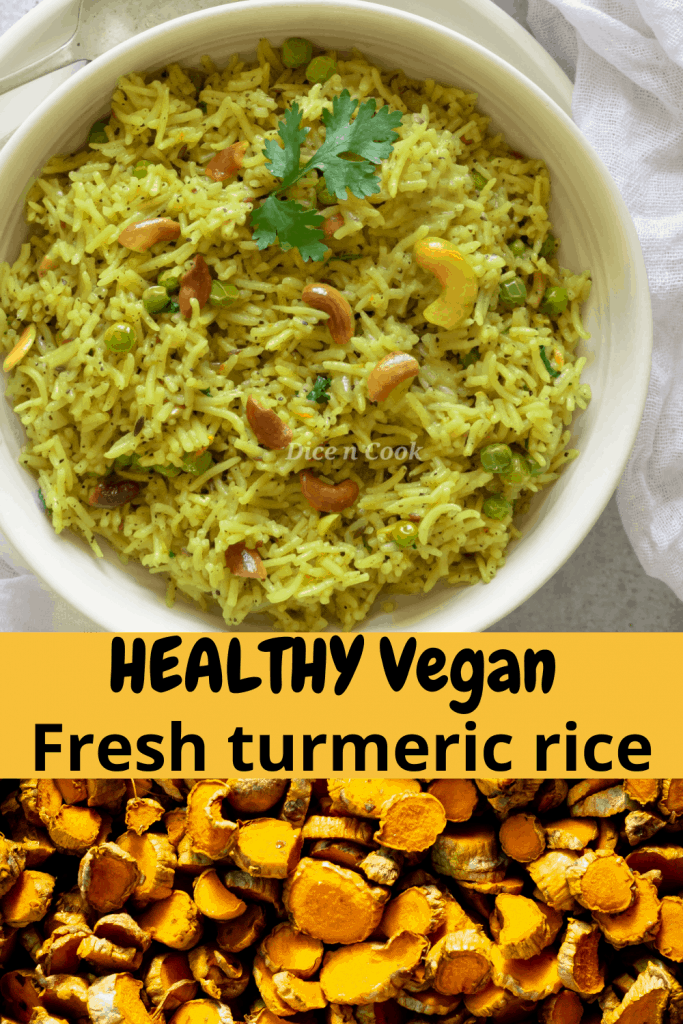 Fresh turmeric coconut rice