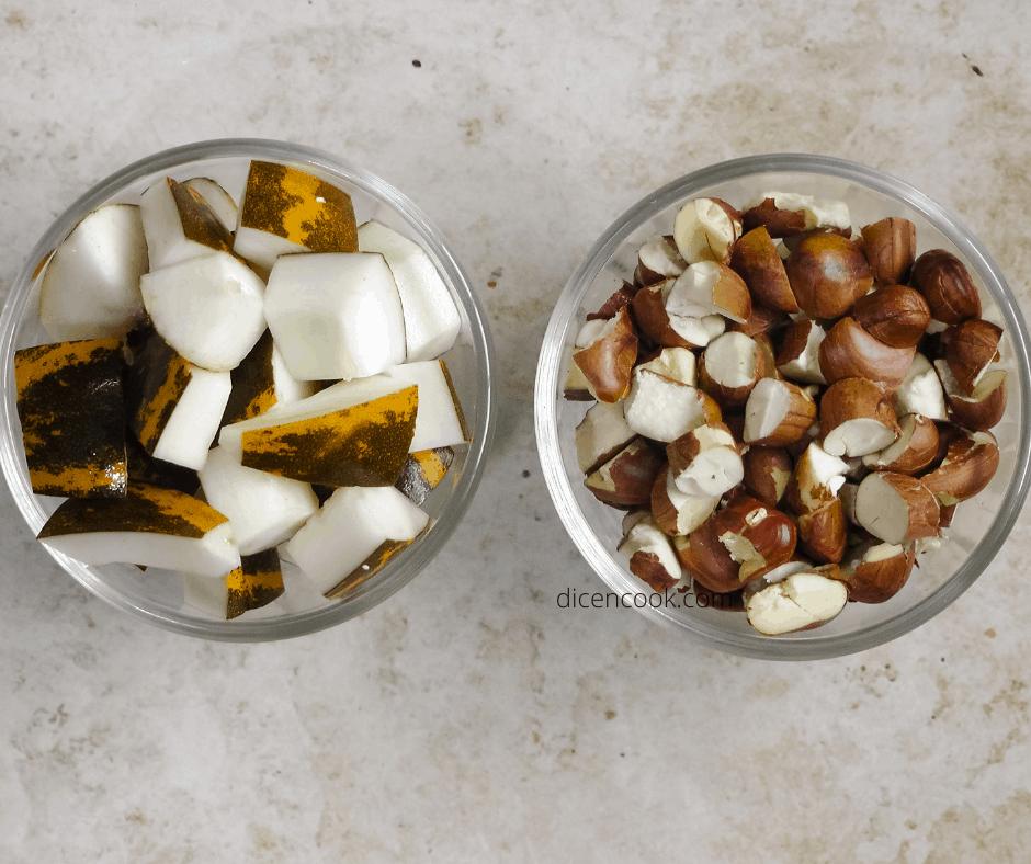 Mangalore cucumber jackfruit seed gassi