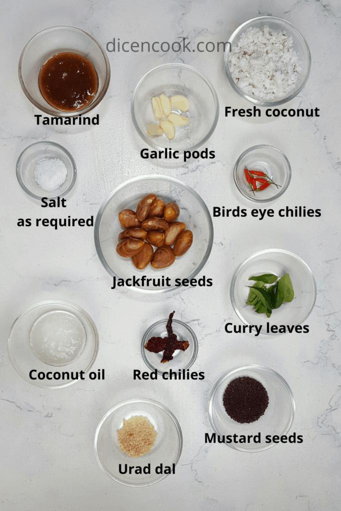 Jackfruit seed coconut chutney recipe