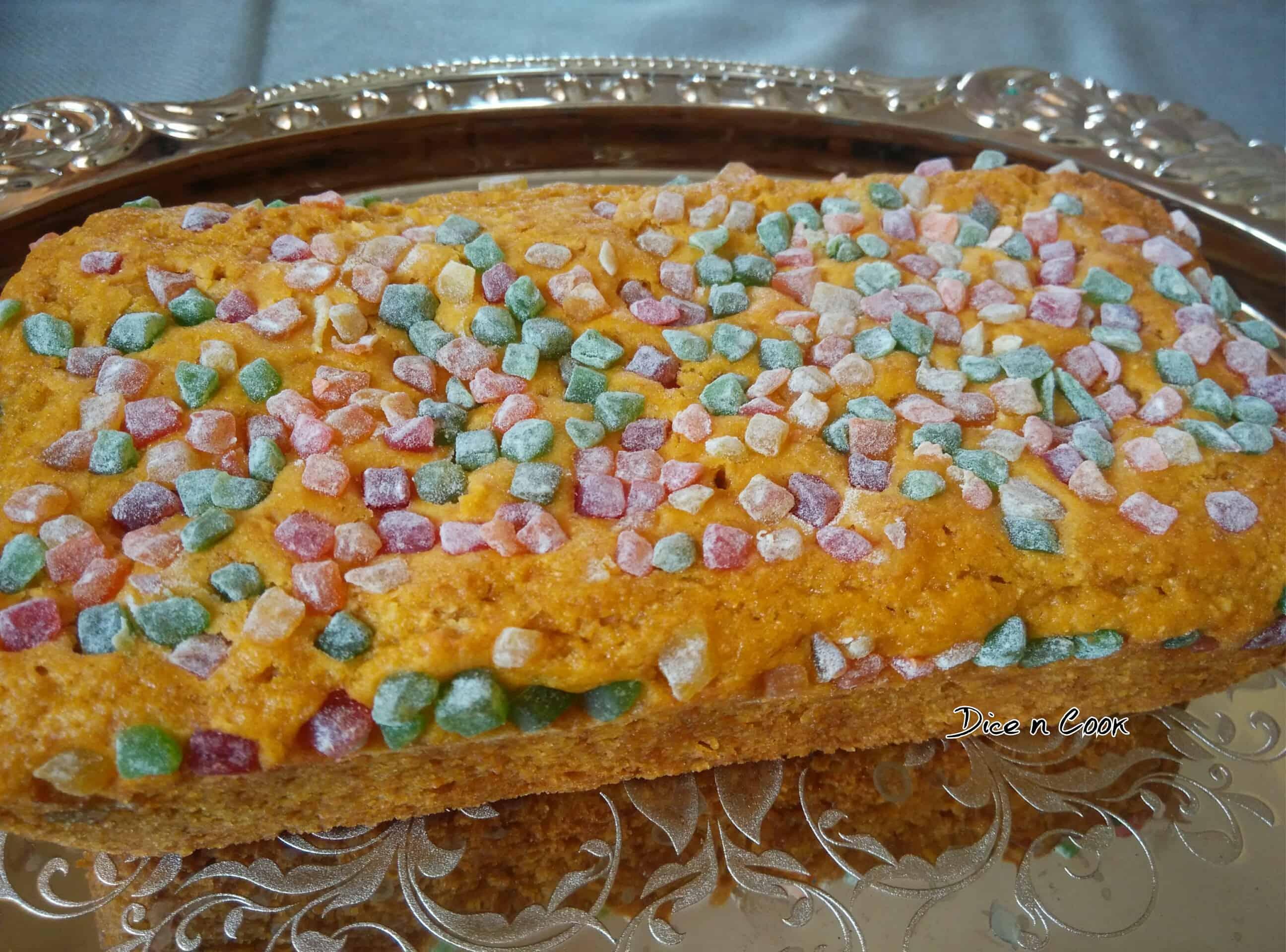 Carrot Cashew Custard Cake