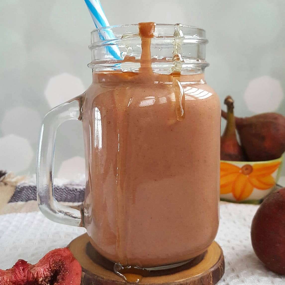 Fresh Fig Honey Smoothie
