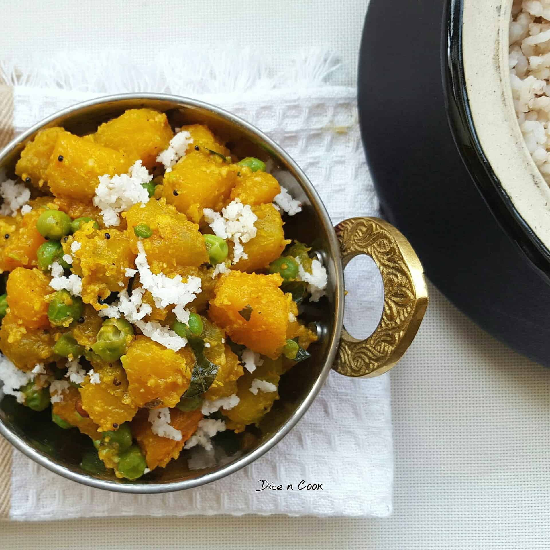 pumpkin-peas-dry-curry