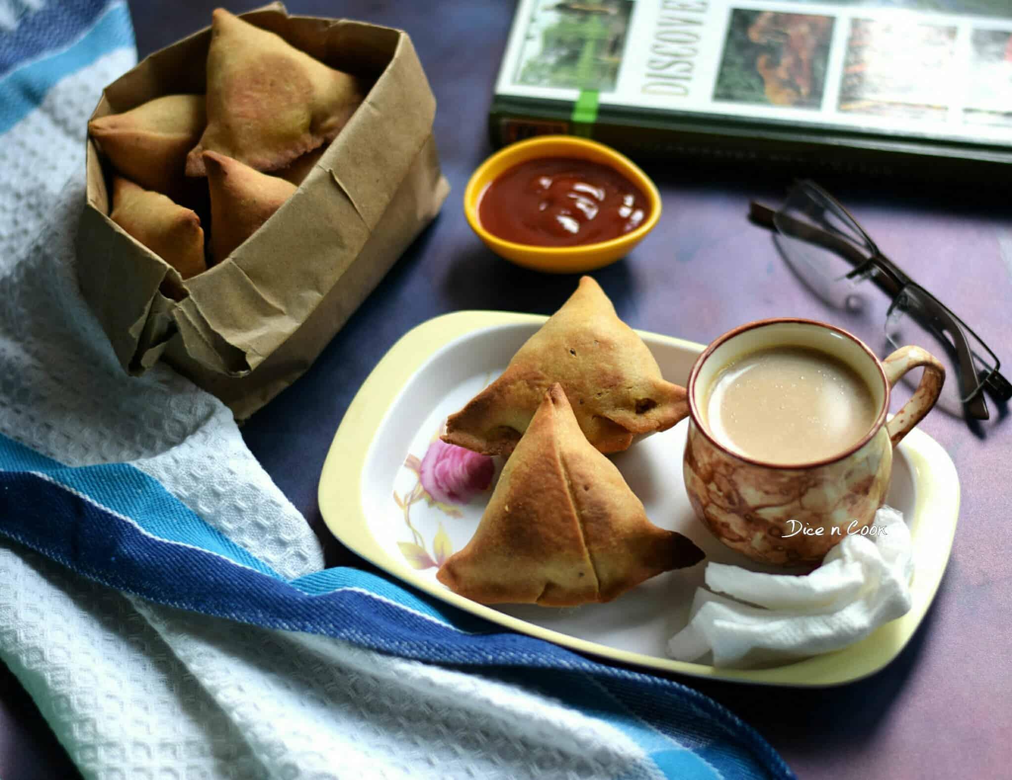 Baked Dhansak Flavored Veg Samosa
