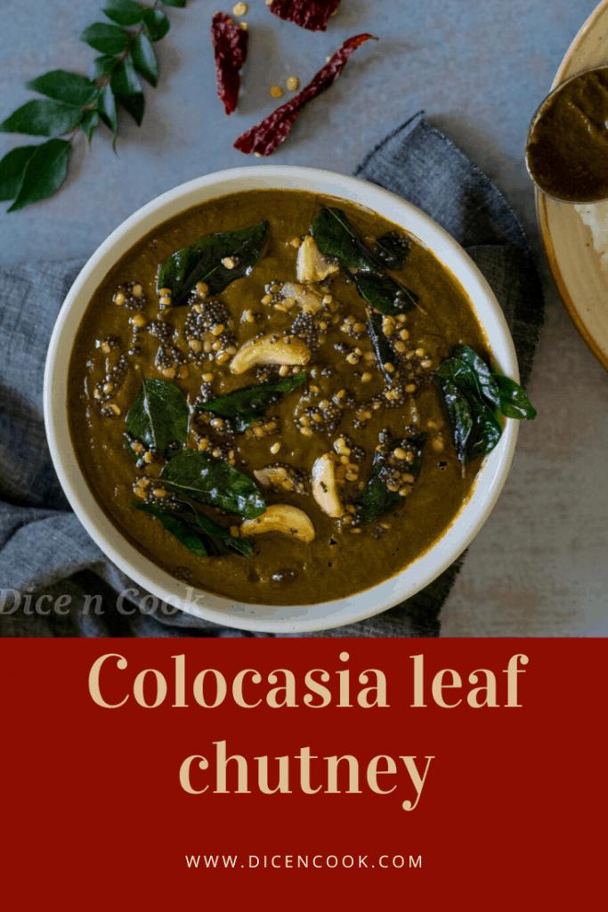 Colocasia-leaf-chutney