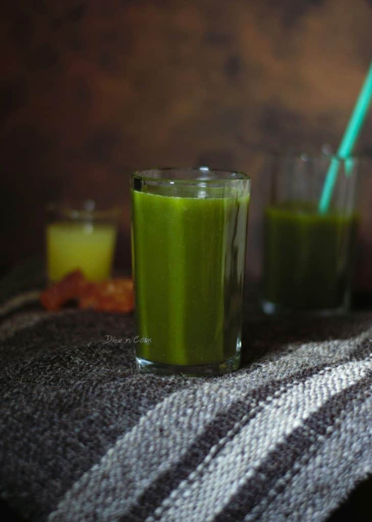 Green Spicy Tangy Juice