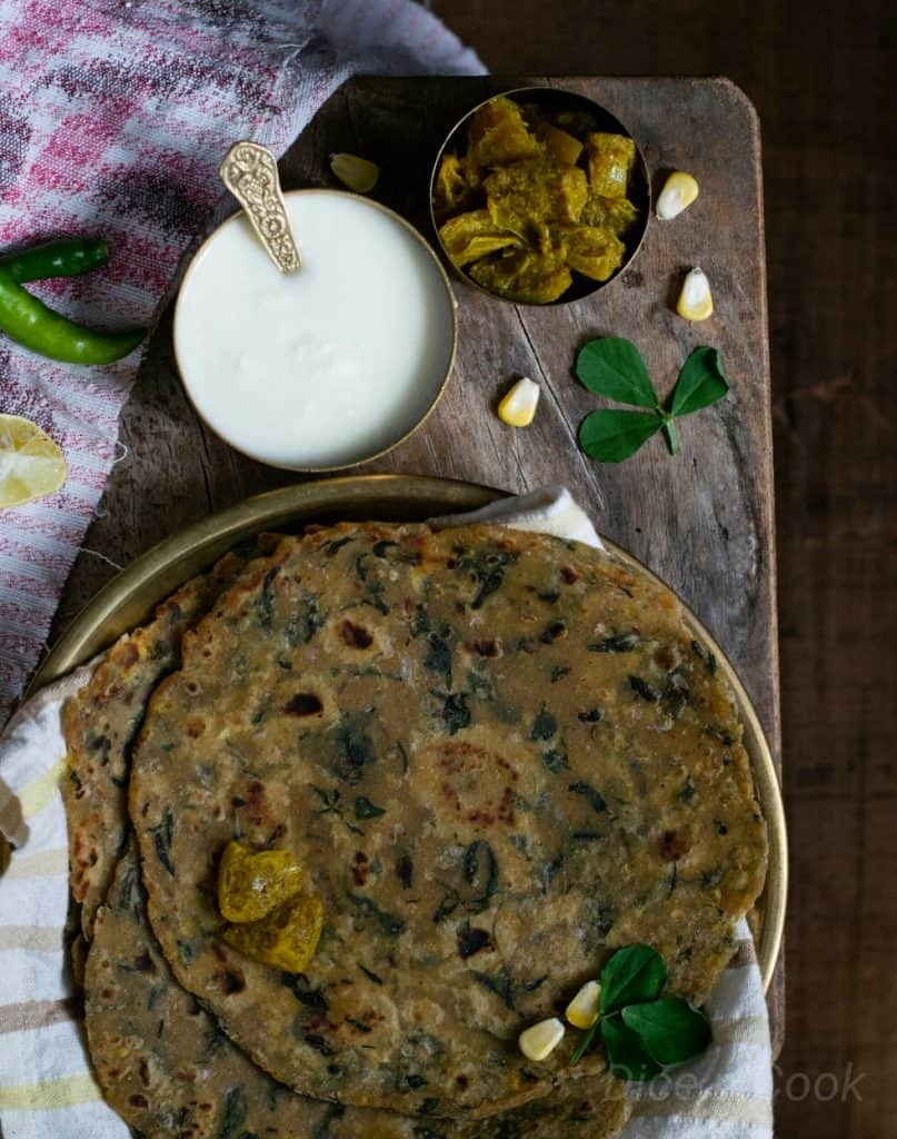 Methi/ Fenugreek Mixed Vegetable Paratha Recipe – Learn to prepare Paratha an Indian flatbread – Pavithra from Dice n Cook
