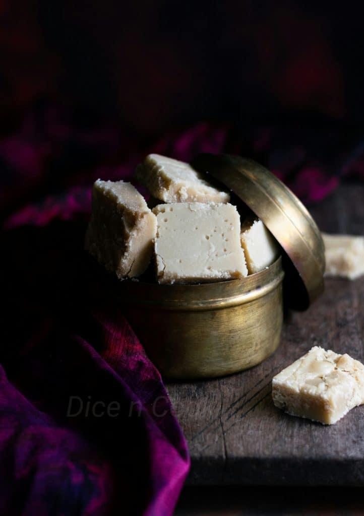 Amruthaphala burfi /fudge – Learn to prepare Karnataka style amruthaphala burfi – Pavithra from Dice n Cook