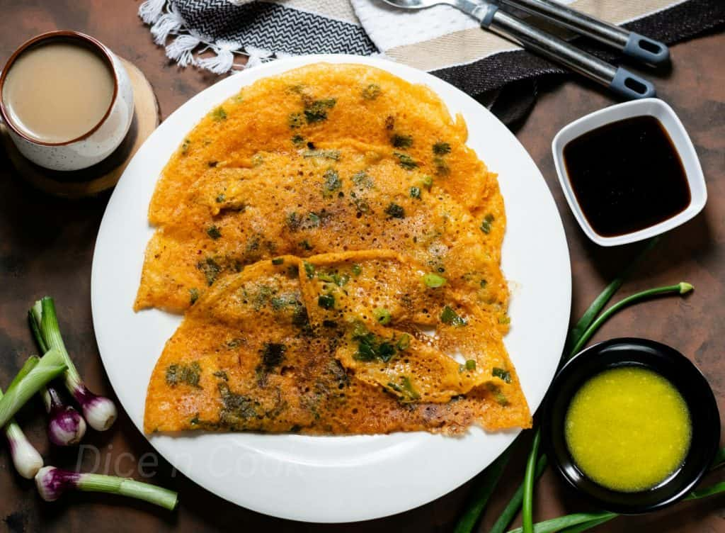 Spring Onion Dosa – How to prepare Karnataka style spring onion dosa – Pavithra from Dice n Cook