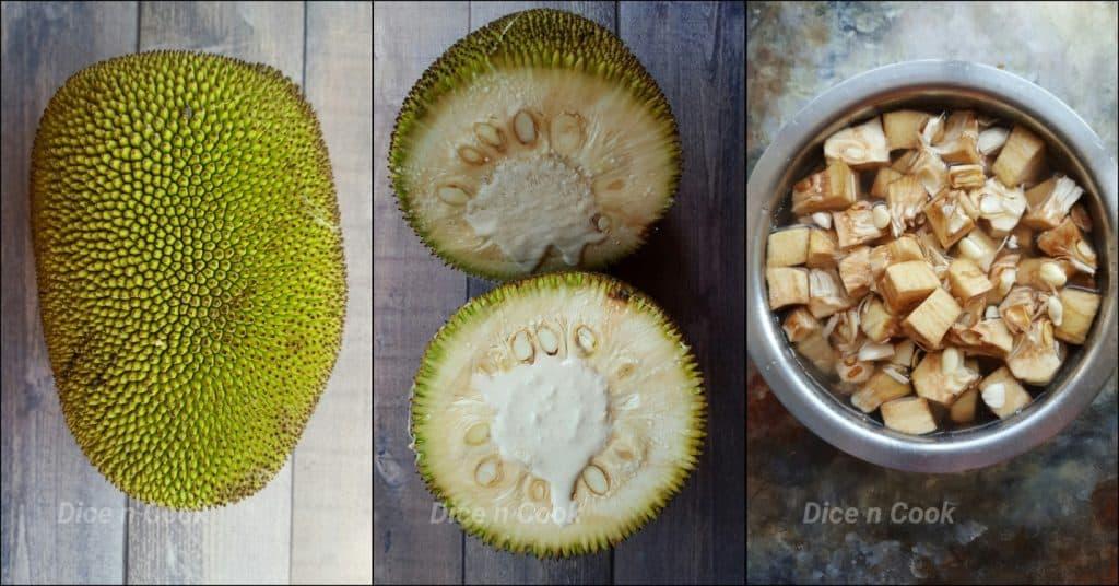 Raw-jackfruit-processing
