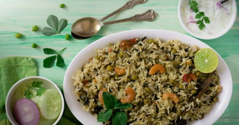 Hara bara veg pulao – how to make green veg rice