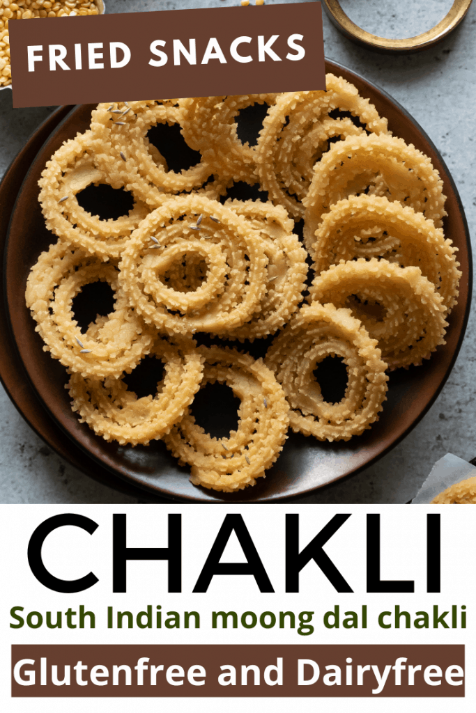 Moong dal chakli or hesaru bele chakli recipe with step by step photos and a quick detailed video. Moong dal chakli is deep fried South Indian snack. These are made of combination of rice flour and lentils. This is a easy and simple recipe. Dairyfree and glutenfree snack recipe.