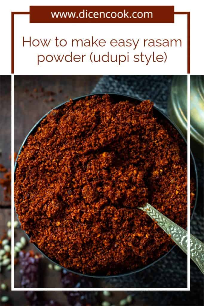 How to make udupi style rasam powder